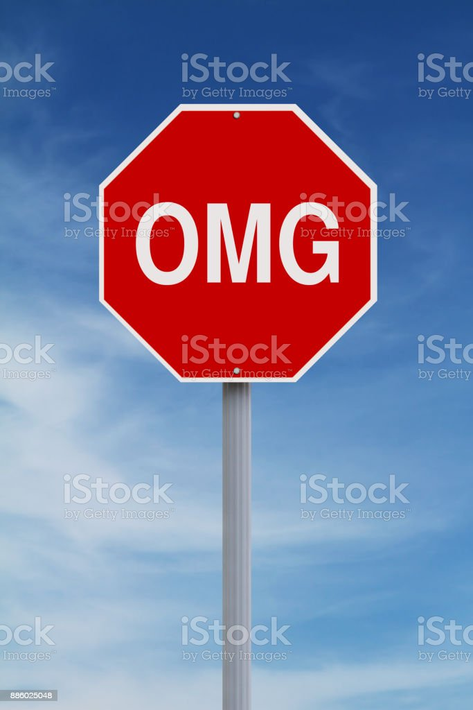 Oh My God Sign stock photo