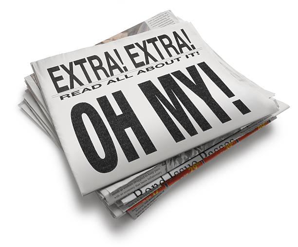 Oh My! A newspaper with headline