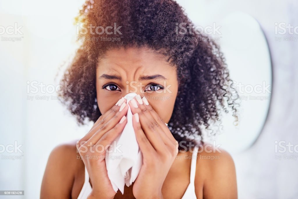 Oh no, could it be flu? stock photo