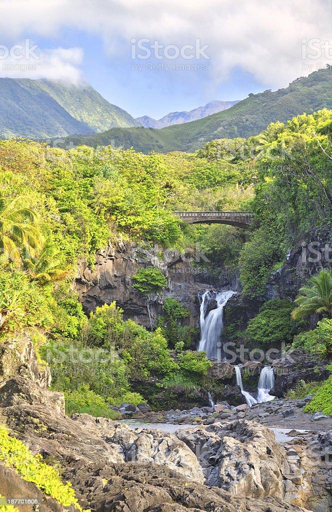 Oheo Gulch waterfalls (Seven Sacred Pools), Maui, Hawaii stock photo