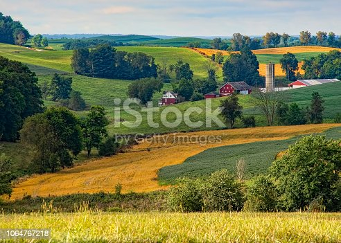 Beautiful farmland in the Ohio countryside
