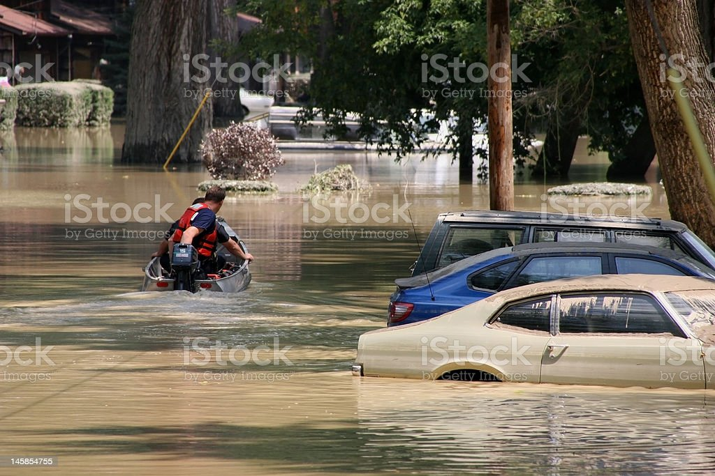 Ohio Flood stock photo