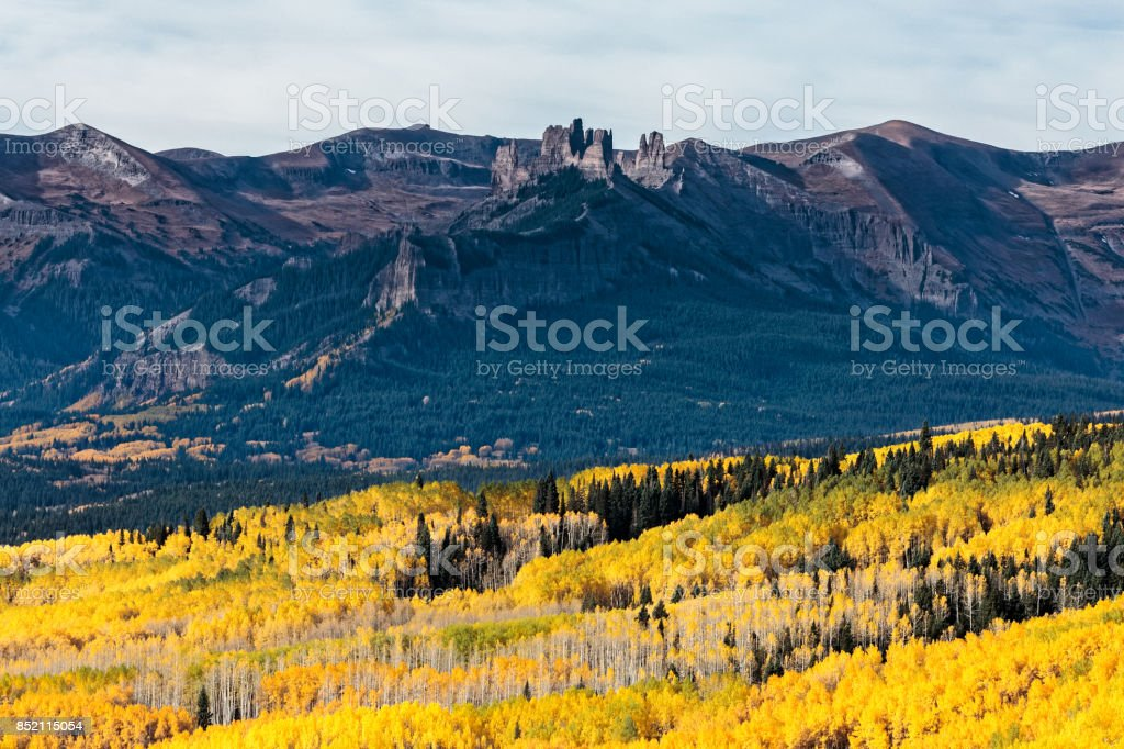 Ohio Pass - Colorado Autumn Scenery stock photo