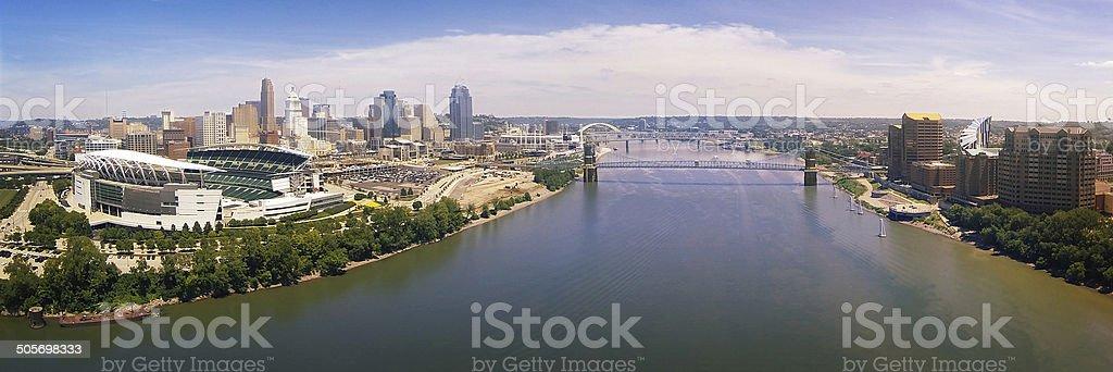 Ohio River Panorama stock photo
