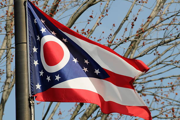 Ohio State Flag  ohio stock pictures, royalty-free photos & images
