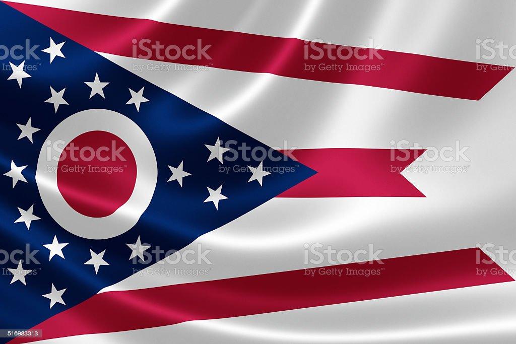 Ohio State Flag stock photo