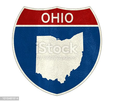 Ohio State Interstate road sign