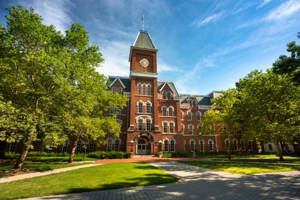 Ohio State University campus in Columbus Ohio USA stock photo