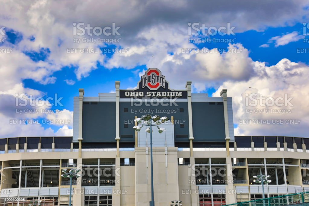 Ohio State University is home to the OSU Buckeyes stock photo