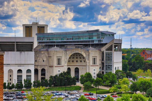 Ohio State University is home to the OSU Buckeyes stock photo