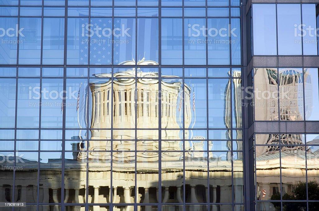 Ohio Statehouse Reflection stock photo