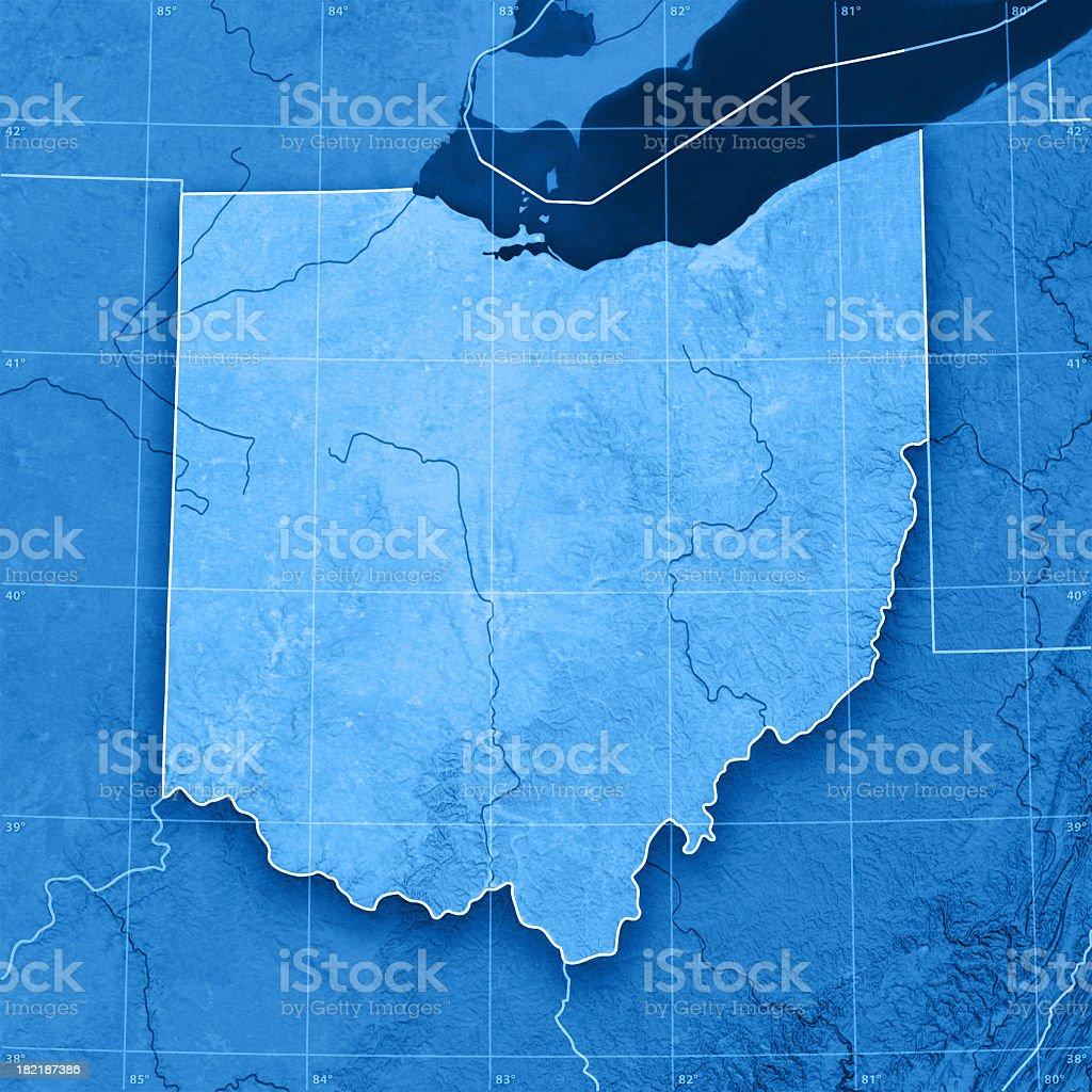 Ohio Topographic Map stock photo