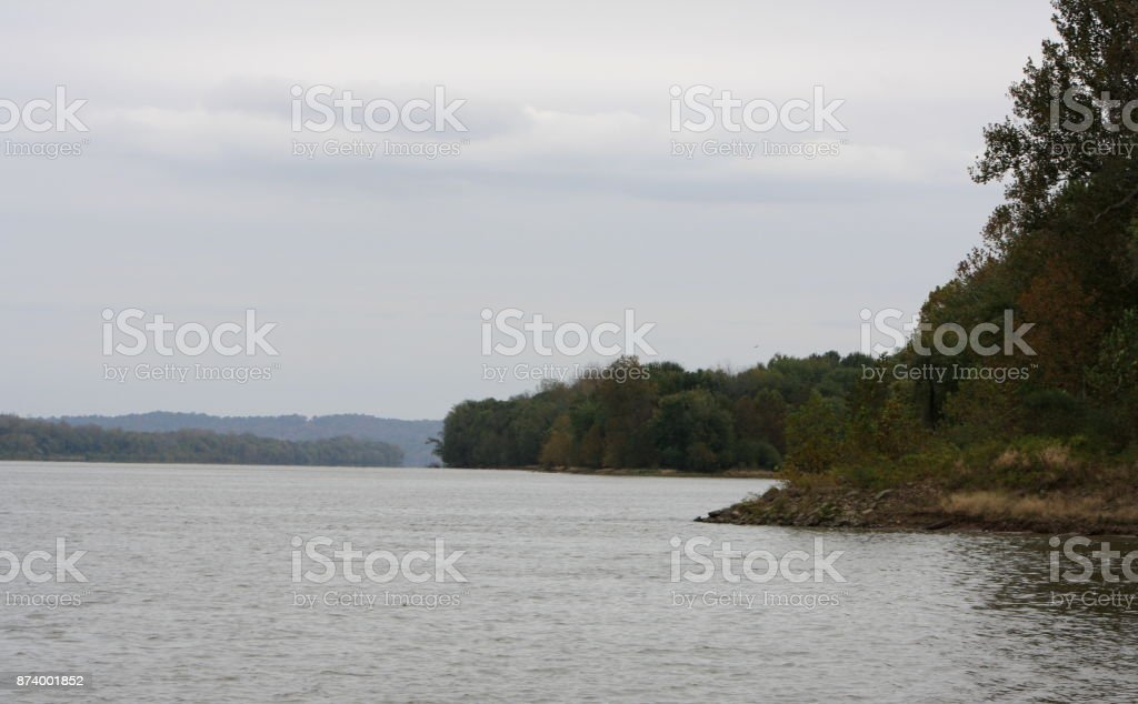 Ohip Riverbank View 1 stock photo