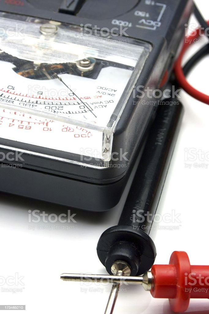 Ohm Meter with Probes royalty-free stock photo