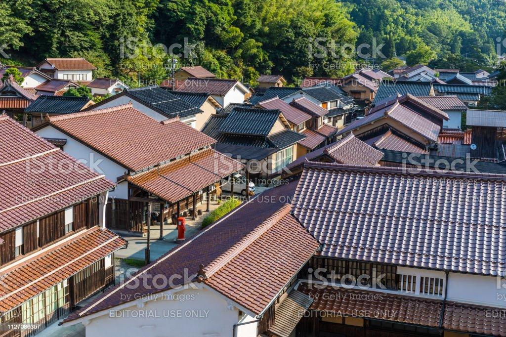 Ohmori, Historic Silver Mine Village, Japan stock photo