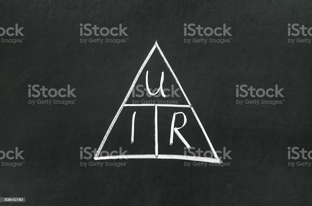 Ohms Law Triangle Stock Photo - Download Image Now - iStock