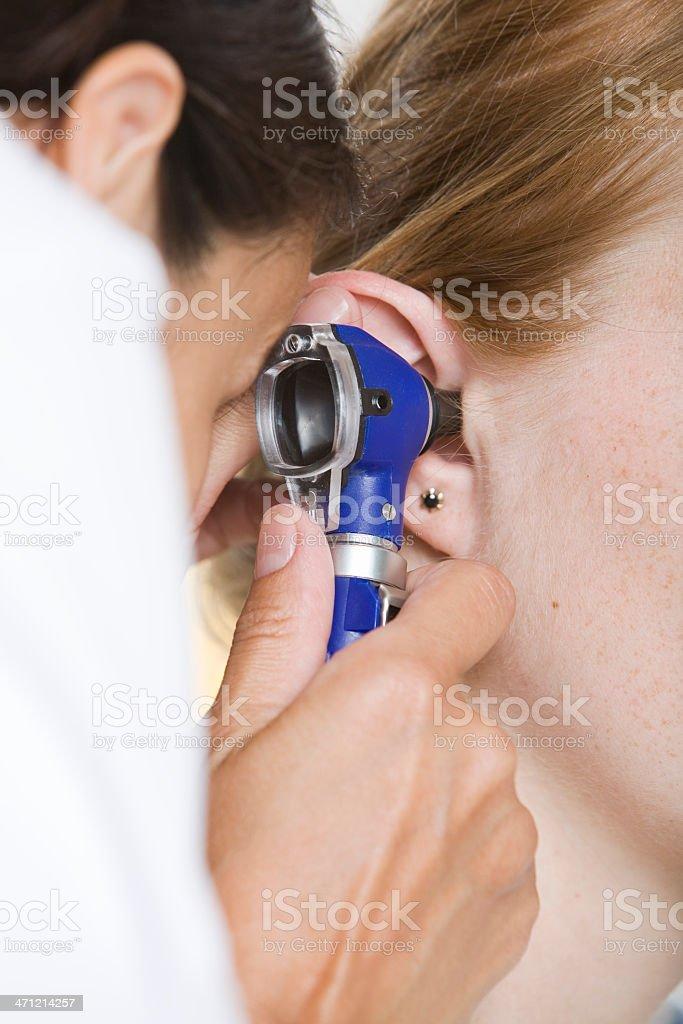 Ohrenuntersuchung stock photo