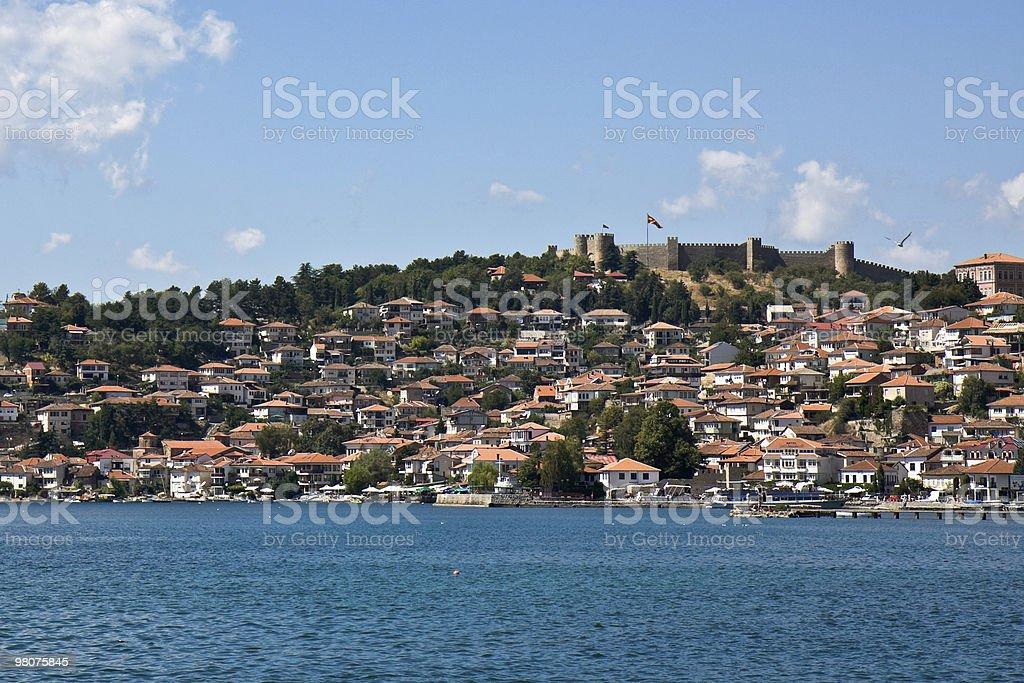 Ohrid Lake and City royalty-free stock photo