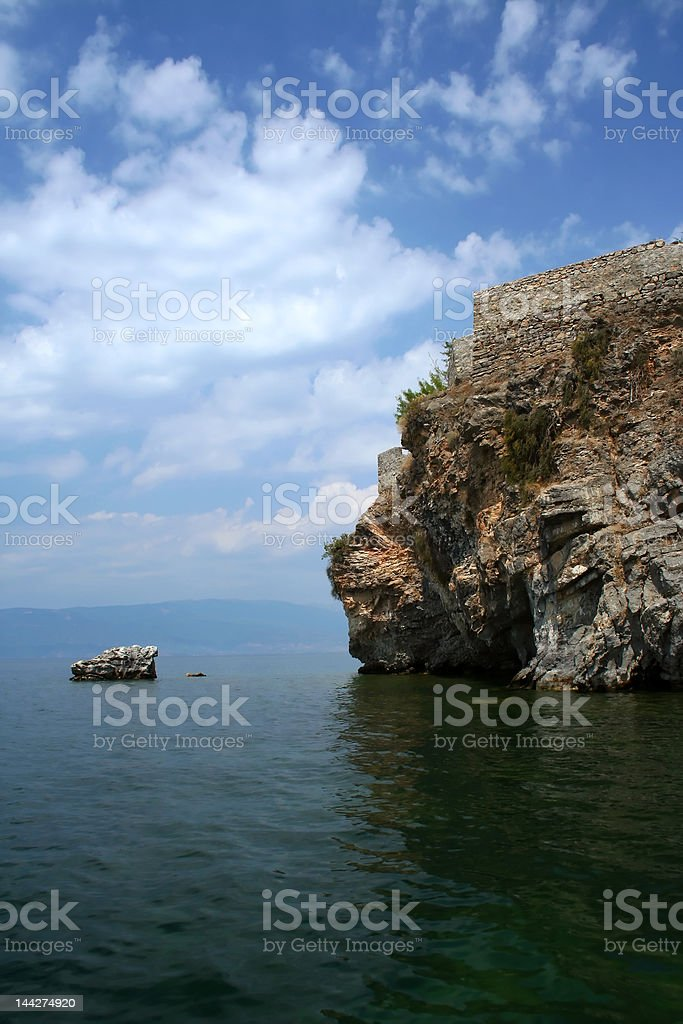 Ohrid lake scene in Macedonia royalty-free stock photo