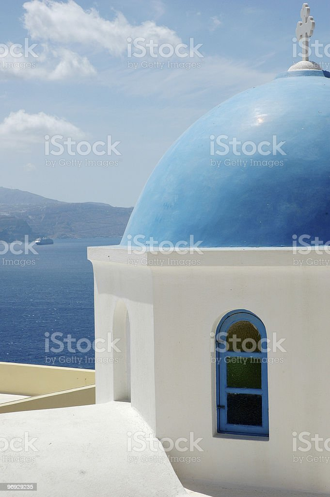Oia Church royalty-free stock photo