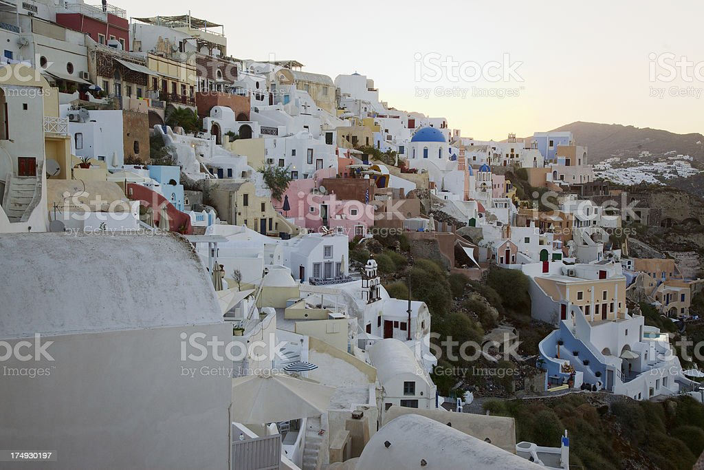 Oia Cityscape at twilight. Santorini. Greece. royalty-free stock photo