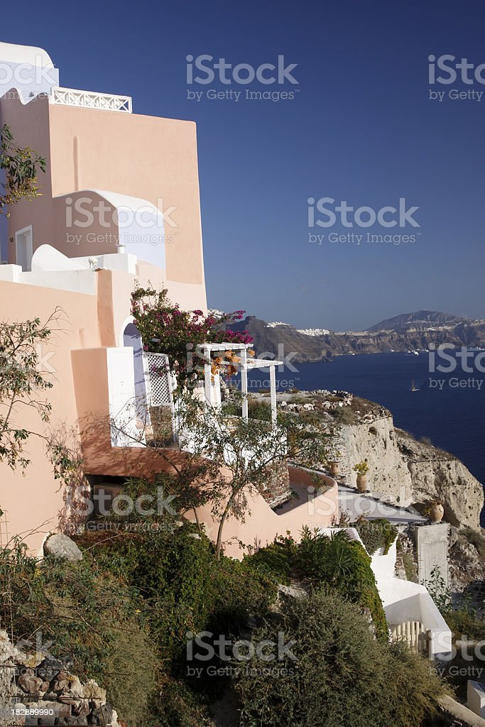 Oia on Santorini in the Cyclades, Greece royalty-free stock photo