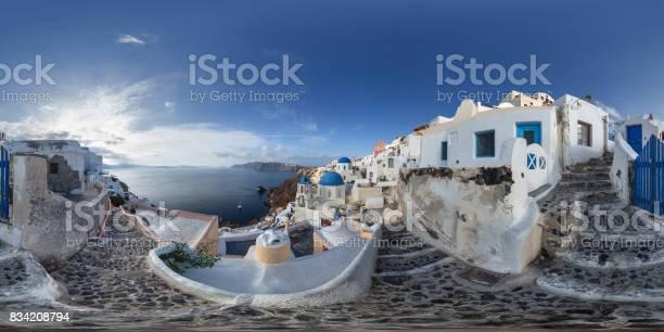 Oia on the island of santorini in greece on a sunny morning 360 view picture id834208794?b=1&k=6&m=834208794&s=612x612&h= vfpvrmrletxg8u yzuz hktxdhp7fvk2sfuxjy1jjg=