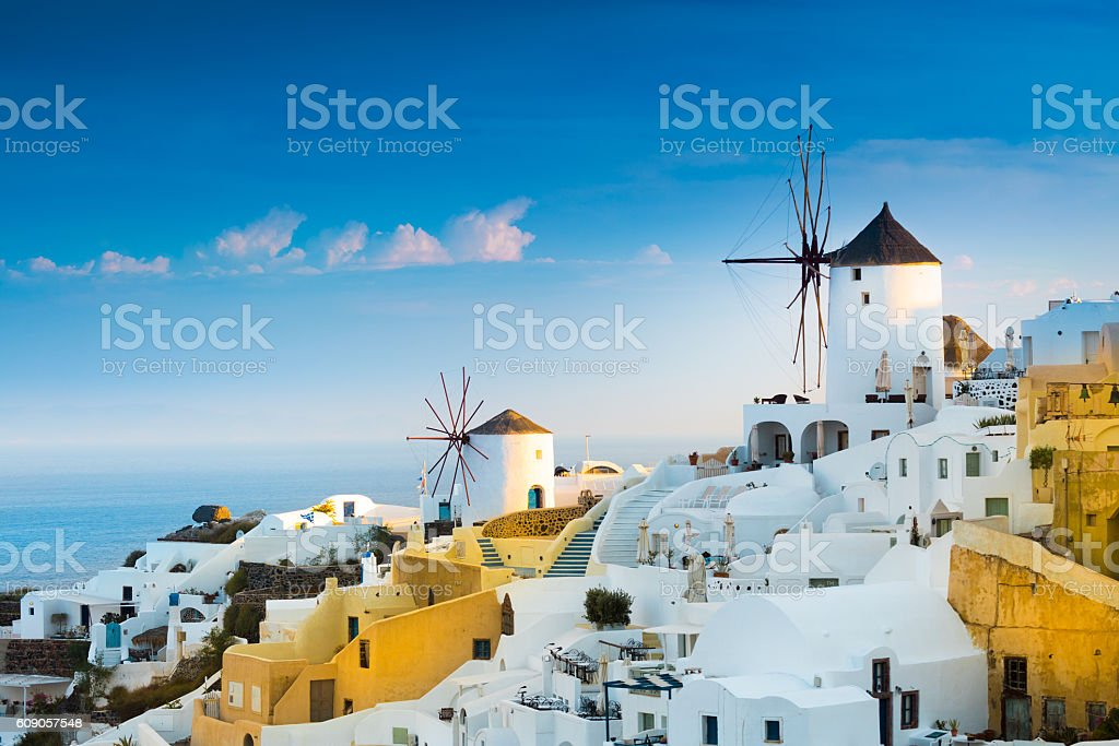 Oia, Santorini, Greece. stock photo