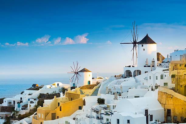 oia, santorin, grèce. - grece photos et images de collection