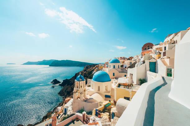 oia santorin, grèce - grece photos et images de collection