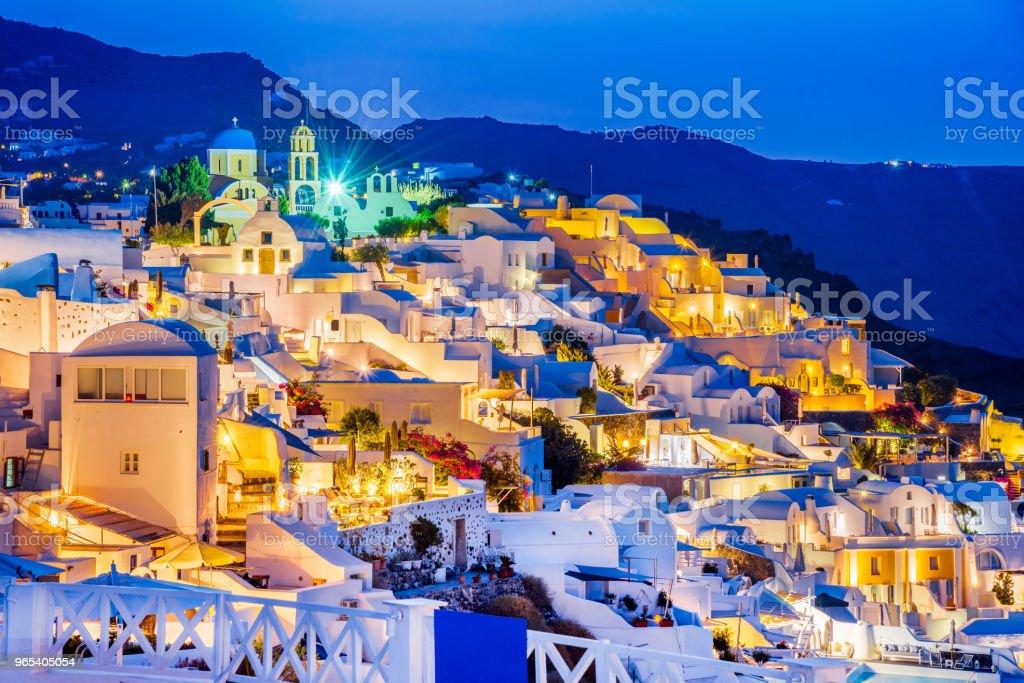 이아, 그리스 산토리니 - 로열티 프리 0명 스톡 사진