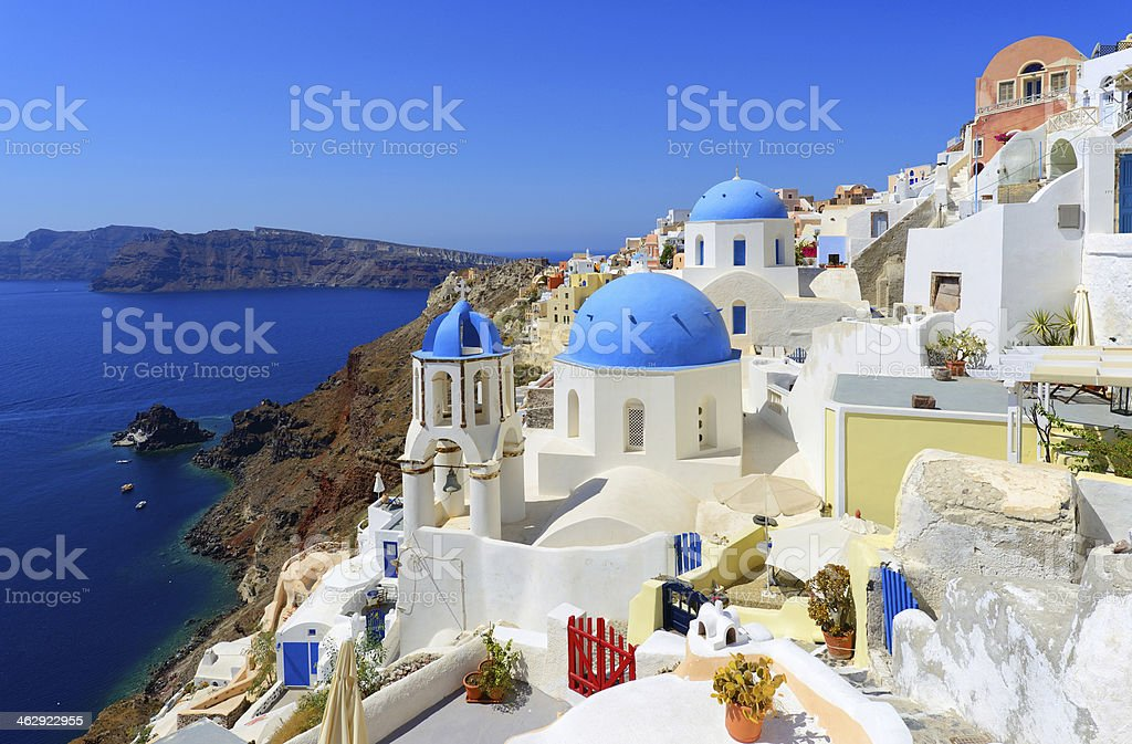 Oia Santorini stock photo