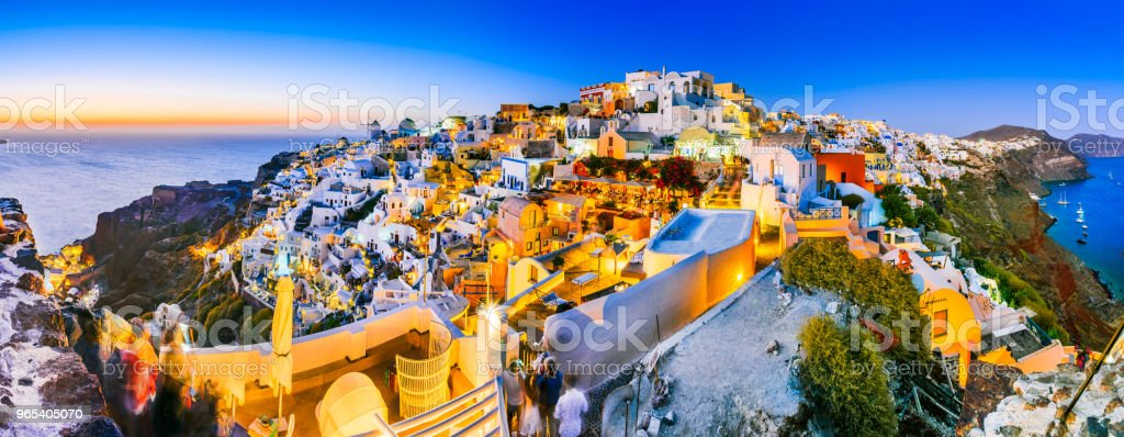 Oia sunset, Santorini - Greek Islands zbiór zdjęć royalty-free