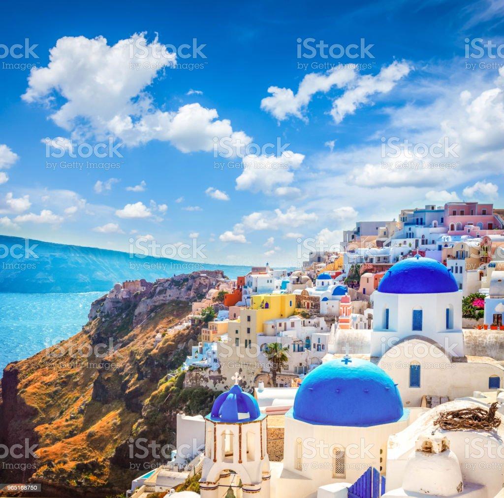 Oia, traditional greek village royalty-free stock photo