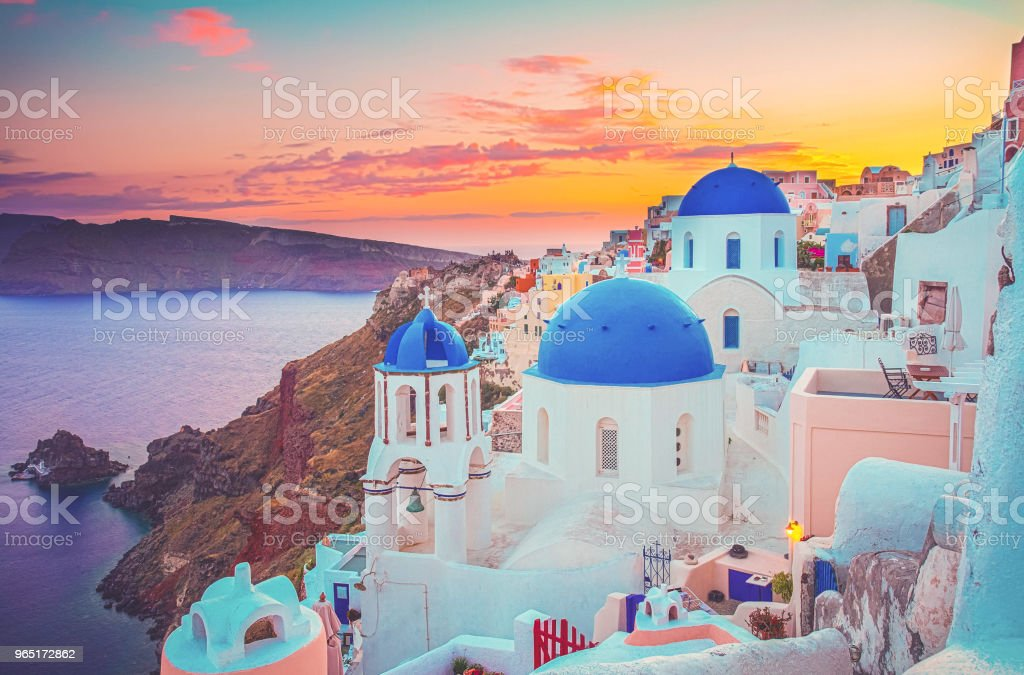 Oia, traditional greek village royalty-free stock photo