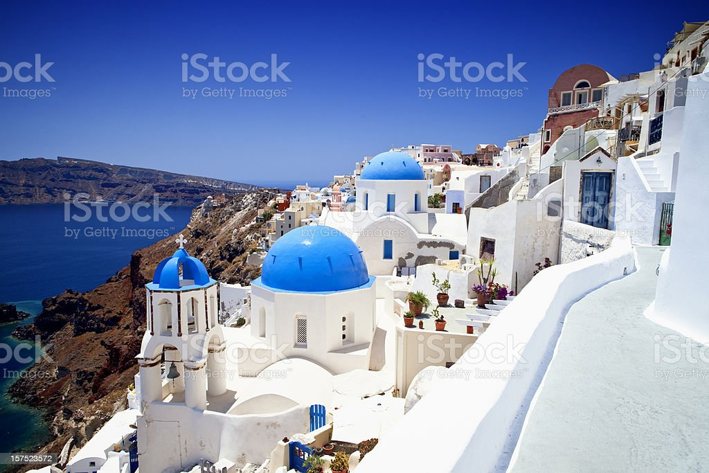 Oia (Ia) village on Santorini island, Greece royalty-free stock photo