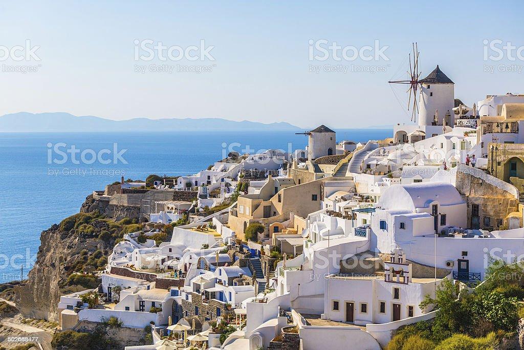 Oia village, Santorini island, Greece. stock photo