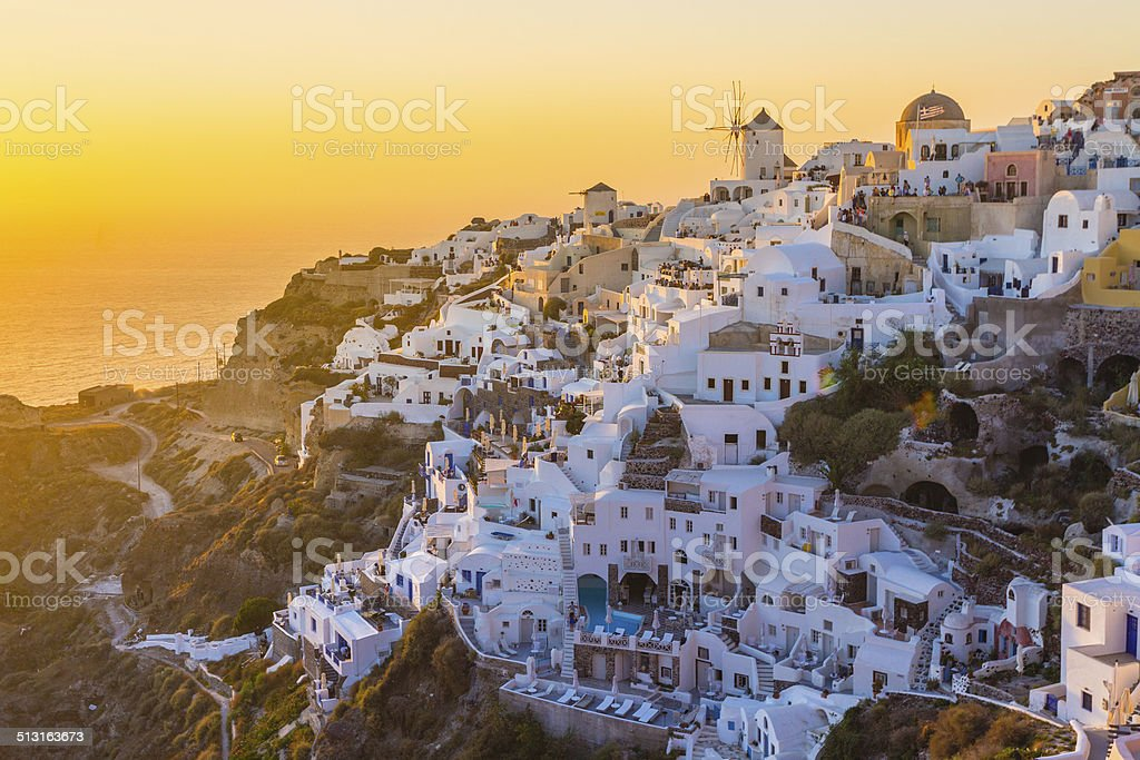 Oia village, Santorini island, Greece. royalty-free stock photo