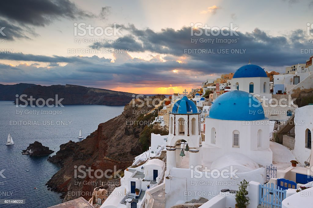 Oia village, Santorini. foto stock royalty-free