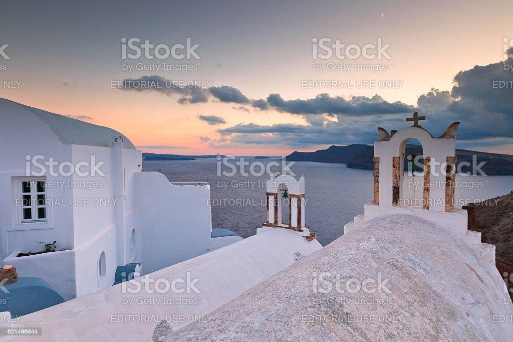 Oia village, Santorini. foto stock royalty-free