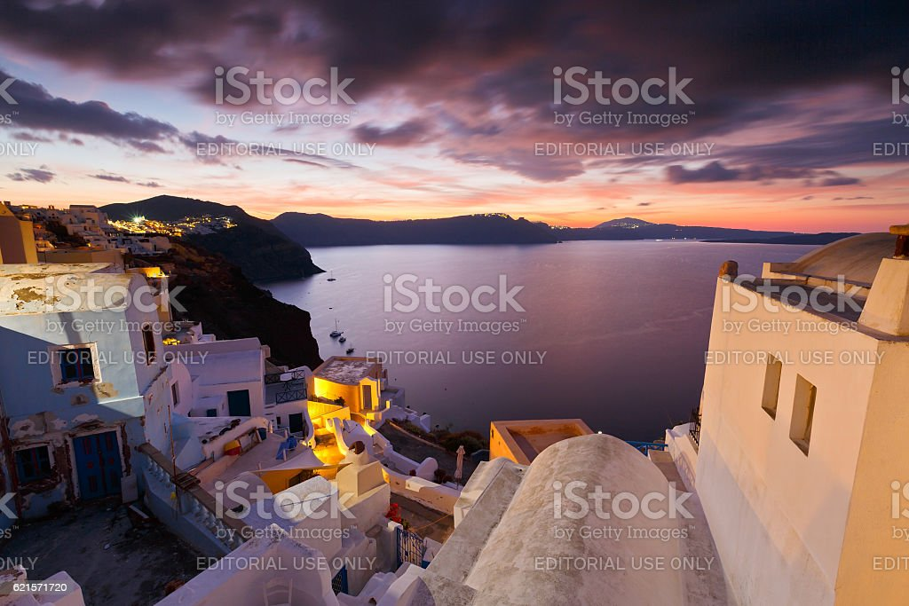 Oia village, Santorini. photo libre de droits