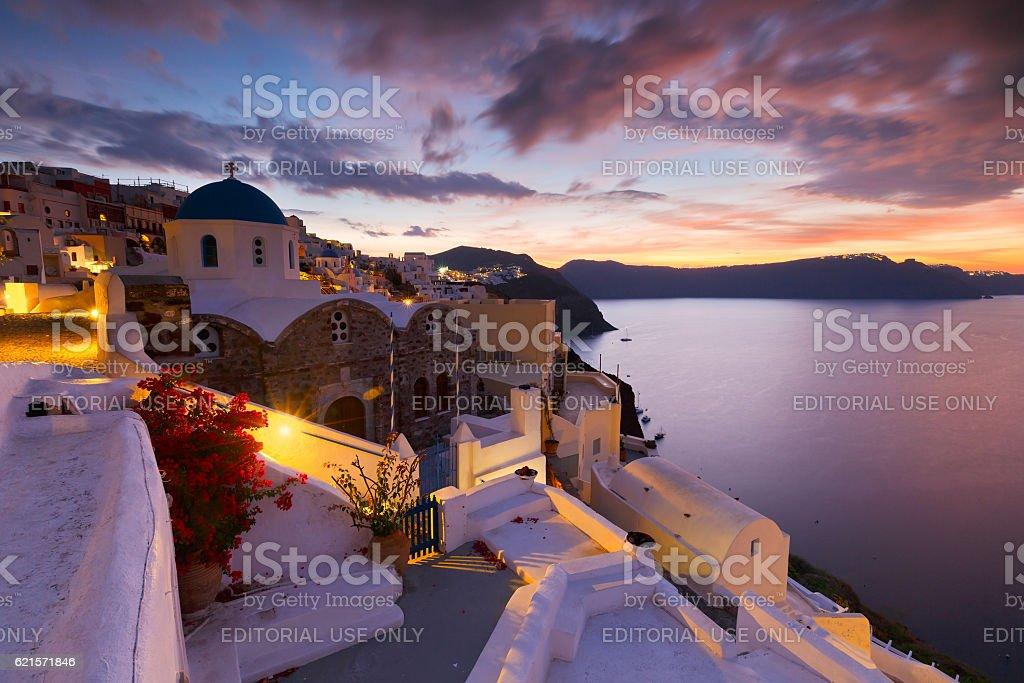 Oia village, Santorini. photo libre de droits