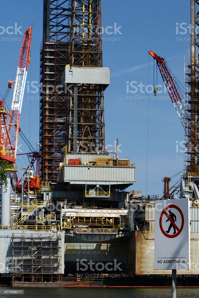 Oil Admittance royalty-free stock photo