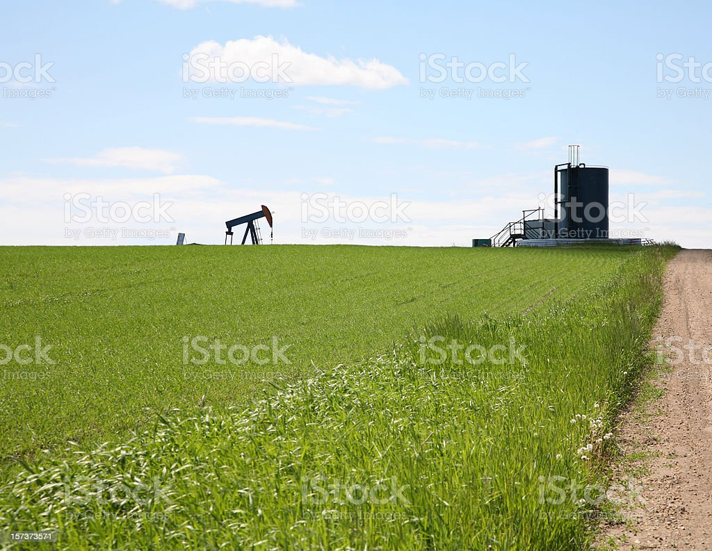 Oil And Agriculture Scenic royalty-free stock photo