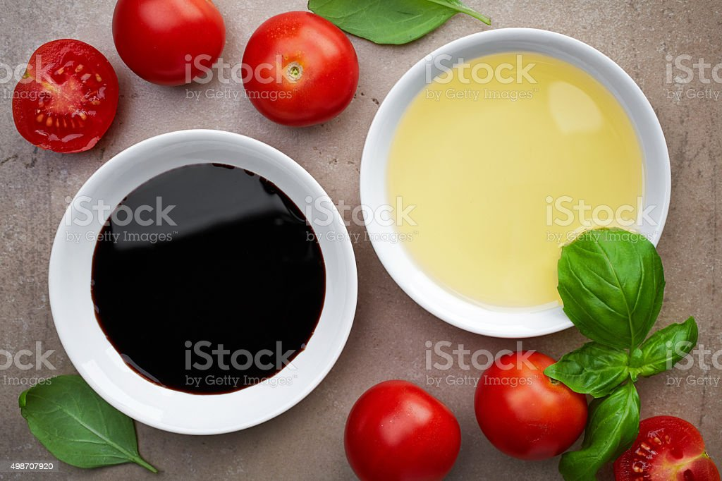 oil and balsamic vinegar stock photo