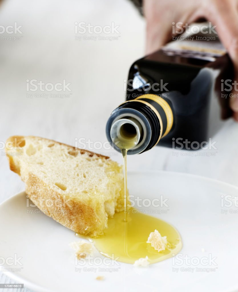 oil and bread stock photo