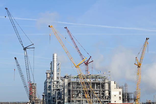 Di olio e chimico Raffineria di Rotterdam - foto stock