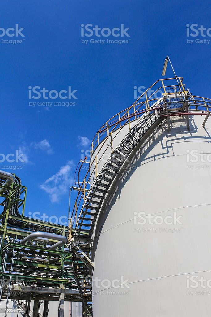 Oil and chemical Tank storage royalty-free stock photo