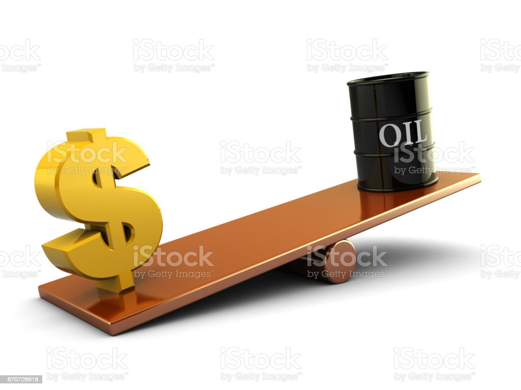 oil and dollar stock photo