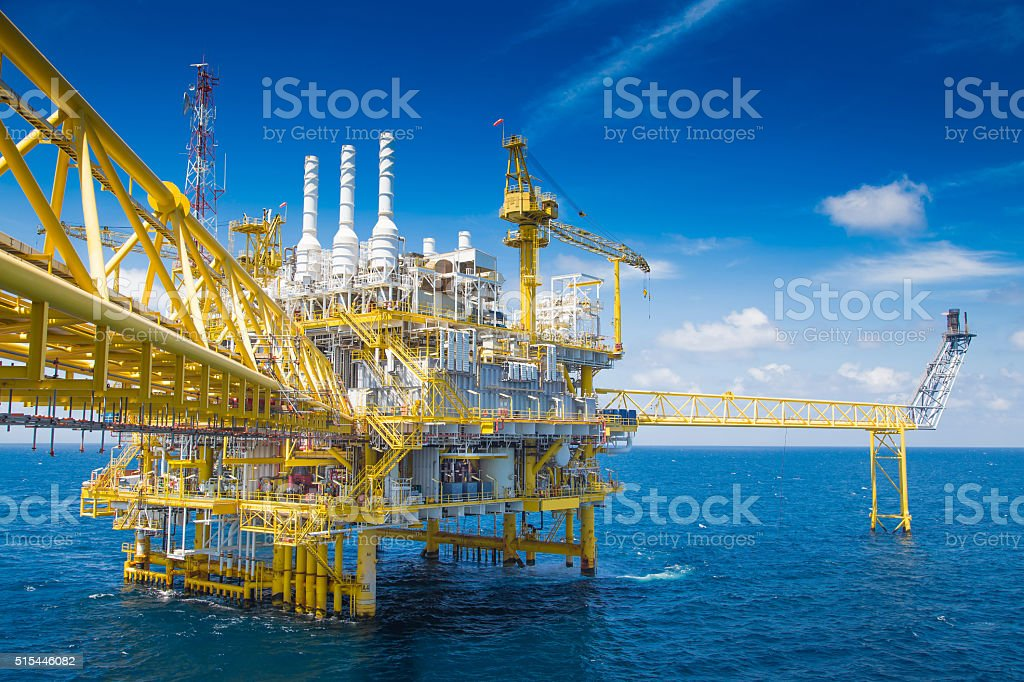 Oil and Gas business at offshore ,world energy. stock photo